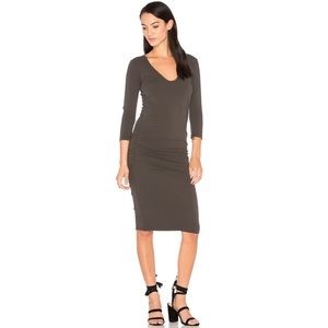 James Perse V-Neck Bodycon Dress